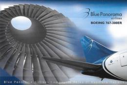 [MD2525] CPM - AEREI - BLUE PANORAMA AIRLINES - BOEING 767-300ER - LINEA - NV - Pubblicitari