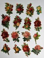 16 Image Découpis Fleurs Bouquet De Fleurs Composition Florale Roses - Flowers