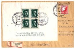 Allemagne/Reich Belle Lettre Entière Recommandée De 1937 Avec Bloc-feuillet YT N° 8. B/TB. A Saisir! - Deutschland