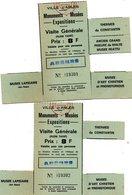 VILLE D' ARLES - 2 Tickets D'entrée  Monuments , Musées, Expositions  - Visite Générale Avec Coupons Détachables - Tickets - Vouchers