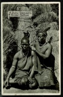 Ref 1259 - Ethnic Real Photo Postcard - A Zulu Damsel's Bridal Coiffure - South Africa - Hairdressing Theme - Africa