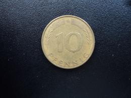 RÉPUBLIQUE FÉDÉRALE ALLEMANDE : 10 PFENNIG   1972 G    KM 108    SUP 55 - 10 Pfennig