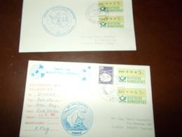 B659   2 Buste Germania Ddr Spedizione Antartica - FDC: Enveloppes