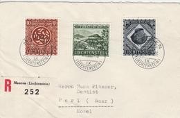 Liechtenstein Lettre Recommandée Mauren 1953 - Liechtenstein