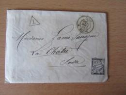 France - Enveloppe Avec Lettre Datée De 1884 à étudier - Timbre Taxe 30c + Oblitérations - Historical Documents