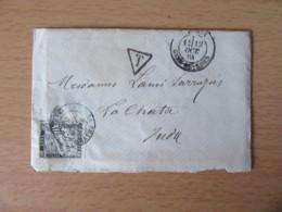 France - Enveloppe Avec Lettre Datée Du 12 Octobre 1884 (cachet) à étudier - Timbre Taxe 30c + Oblitérations - Documents Historiques