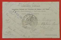 Ww1 Rare Carte En FM Militaire 1916  Poilus 35 RI Armée D'Orient Mission En Italie Rome Sans éditeur - 1914-18
