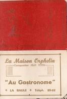 La Baule (44 Loire Atlantique) Calendrier  1954 AU GASTRONOME  (PPP 16765) - Calendriers