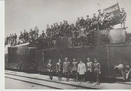 CP - RÉVOLUTION RUSSE 1917 - 1921 - LE TRAIN BLINDE N° 12 DE L'ARMÉE ROUGE EN 1919 - MAURICE JUAN - MÉMOIRE DU XX° SIECL - Otras Guerras