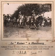 KAISER A HAMBOURG GUILLAUME II PARADE  PHOTO PRESSE FICHE ???? VERS 1910 ?? - Berühmtheiten