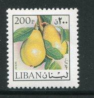 LIBAN- Y&T N°639- Neuf Sans Charnière ** (fruits- Poires) - Liban