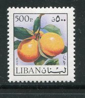 LIBAN- Y&T N°641- Neuf Sans Charnière ** (fruits- Oranges) - Liban