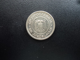 RÉPUBLIQUE FÉDÉRALE DE YOUGOSLAVIE : 1 DINAR  2002   KM 180    SUP - Yougoslavie