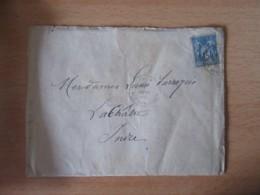 France - Enveloppe Datée De Février 1885 Avec 2 Documents à étudier - Timbre Sage 15c + Oblitérations - Documents Historiques