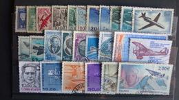 FRANCE - 26 Timbres Poste Aérienne Oblitérés  Tous Différents - Stamps