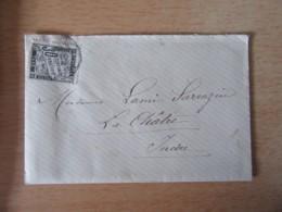 """France - Enveloppe Avec Lettre Datée De 1884 à étudier - Timbre Taxe 30c - Mention """"Absent"""" Manuscrite Au Verso - Historical Documents"""