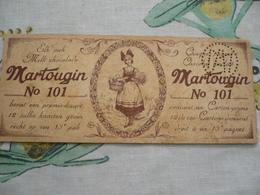 Martougin Chocolade Premiekaart - Publicités