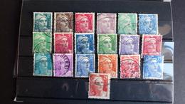 FRANCE - 19 Timbres Marianne De Gandon Oblitérés  Tous Différents - Stamps