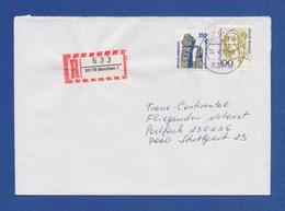 Bund R-Brief Einschreiben MiF 1407, 1756 - BORCHEN - [7] Federal Republic