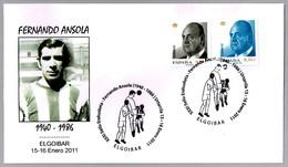 Futbolista FERNANDO ANSOLA (1940-1986). Elgoibar, Pais Vasco, 2011 - Fútbol
