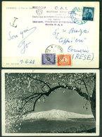 Z254 ITALIA REPUBBLICA 1948 Cartolina Tassata Con  Segnatasse 5 L. + 1 L., Da Nicotera 3.6.48 Per Comerio (VA) - 6. 1946-.. Repubblica