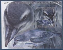 = Bloc Neuf Timbre Terres Australes Et Antarctiques Françaises Le Prion De Mac Gillivray Oiseau Rare De L'île Saint Paul - Blocs-feuillets