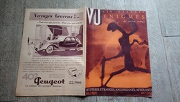 Revue Vu 1936 Grandes énigmes De Notre Temps Sorcellerie Diable Suaire De Turin Reliques Politique - Books, Magazines, Comics