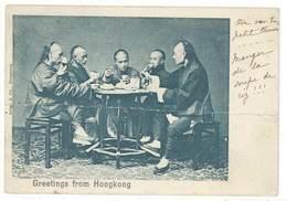 Cpa Greetings From Hongkong ( Chine )  ( état ) - Chine (Hong Kong)