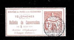 Sello De Francia Nº Yvert Telegr-5 O - Telegraph And Telephone
