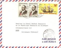 Gabon 1966  - Lettre Par Avion De Libreville à Bonn, Allemagne Fédérale - YT 159A X 2/Pa33 - Gabon (1960-...)