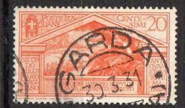 ITALIE ( POSTE ) : Y&T N° 264  TIMBRE  BIEN  OBLITERE , A  VOIR . - 1900-44 Victor Emmanuel III
