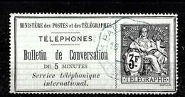 Sello De Francia Nº Yvert Telegr-6 O - Telegraph And Telephone
