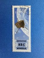 1964 MONGOLIA 15 SPAZIO COSMO SATELLITE TIROS FRANCOBOLLO USATO STAMP USED - Mongolia