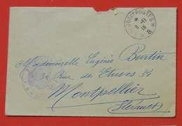 Ww1  Enveloppe Sans Correspondance 1916 FM Aviation Militaire De Perpignan Escadrille F5  Poilus Sans éditeur - 1914-18