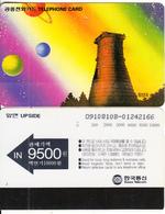SOUTH KOREA - Space, Planets, Korea Telecom Telecard W10000, Used - Korea, South