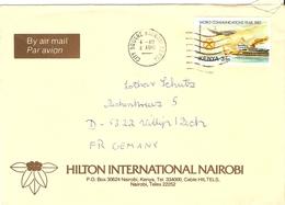 Kenya 198? - Lettre De Nairobi (Hilton International) à Villip/Allemagne Fédérale - Sc 268 - Kenya (1963-...)