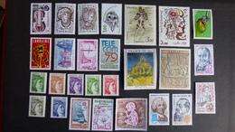FRANCE - Année 1979 - 45 Timbres ** Neuf Sans Charnière  Tous Différents - Stamps
