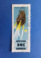 1964 MONGOLIA 30 SPAZIO COSMO SATELLITE MARS PROBE FRANCOBOLLO USATO STAMP USED - Mongolia