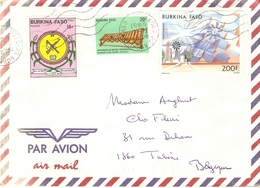 Burkina Faso 1989 - Lettre Par Avion De Bobo- Dioulasso à Tubize, Belgique - YT 641/757/Pa276 - Burkina Faso (1984-...)