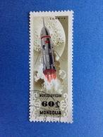 1964 MONGOLIA 60 SPAZIO COSMO SATELLITE LUNA 4 FRANCOBOLLO USATO STAMP USED - Mongolia