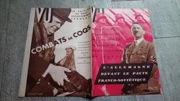 Revue Vu 1936 Pacte Germano Soviétique Hitler Allemagne Combat De Coq Lindberg Politique - Books, Magazines, Comics