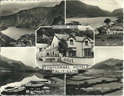 REAL PHOTOGRAPHIC POSTCARD - TYNYCORNEL HOTEL - TAL-Y-LLYN - GWYNEDD - WEST WALES - Wales