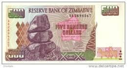 ZIMBABWE P. 11a 500 D 2001 UNC - Zimbabwe