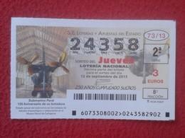 SPAIN ESPAGNE DÉCIMO DE LOTERÍA NACIONAL LOTTERY LOTERIE SUBMARINO SUBMARINE SOUS-MARIN SUBMARINES PERAL BOTADURA VER FO - Billetes De Lotería