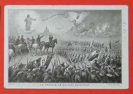 """Ww1 Carte Propagande La France Le Soldat Du Christ """"In Hoc Signo Vinces"""" Savoie Poilus éditeur Russel Nice - 1914-18"""