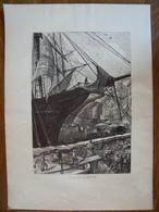 Quai De New-York    Gravure    1880 - Vieux Papiers