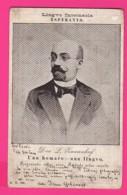CPA (Réf Z963) (THÈME ESPERANTO) D-RO L. TAMENHOF UN U HOMARO UNU LINGVO - Esperanto