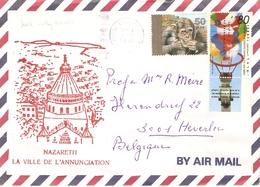 Israel 1993 - Lettre Par Avion De Jerusalem à Heverlee, Belgique - Affranchissement Composé - Sc 1127/1161 Avec Tab - Israel