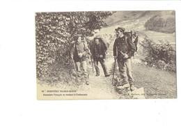 Cpa - Frontière Franco-Suisse - Douaniers Français Se Rendant à L'Embuscade - Michaux - Douane