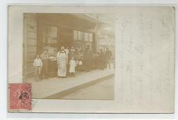 14 Calvados Luc Sur Mer épicerie Animée Rue De Courseulles Carte Photo 1906 -2scans - Luc Sur Mer